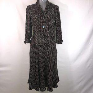 Jones New York Silk Floral Skirt Set